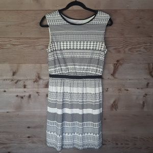 Off White and Black Loft Dress